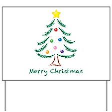 ChristmasTree-MerryChristmas.png Yard Sign