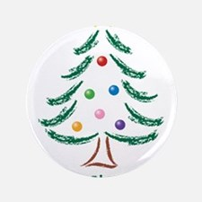 """Merry Christmas Tree 3.5"""" Button (100 pack)"""