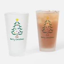 Merry Christmas Tree Drinking Glass