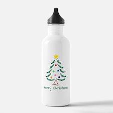 Merry Christmas Tree Water Bottle