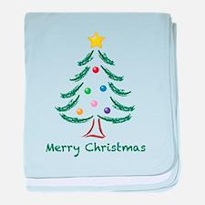 Merry Christmas Tree baby blanket