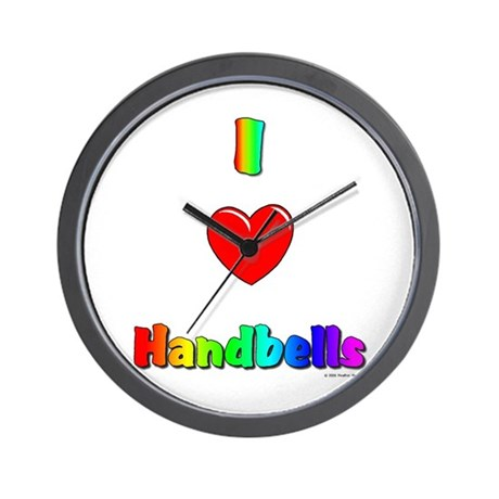 I love handbells Wall Clock