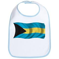 Wavy Bahamas Flag Bib