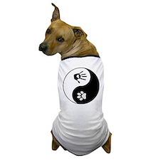 Dog Paw Print & Handprint Yin Yang Dog T-Shirt
