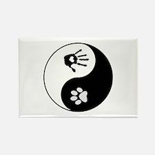 Dog Paw Print & Handprint Yin Yang Rectangle M