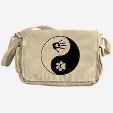 Dog Paw Print & Handprint Yin Yang Messenger B