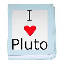 i heart Pluto baby blanket