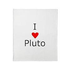 i heart Pluto Throw Blanket