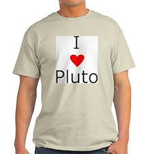 i heart Pluto Ash Grey T-Shirt
