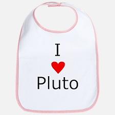 i heart Pluto Bib