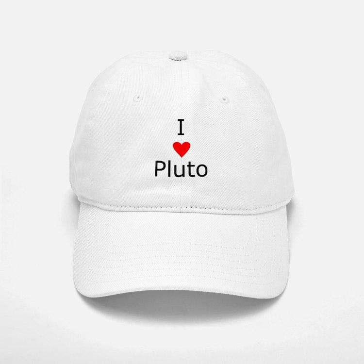 i heart Pluto Baseball Baseball Cap