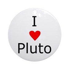 i heart Pluto Ornament (Round)