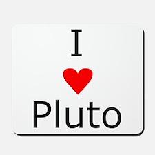 i heart Pluto Mousepad