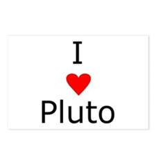 i heart Pluto Postcards (Package of 8)