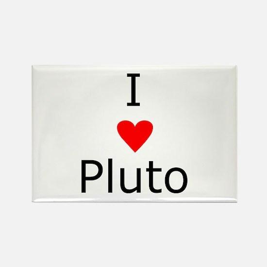 i heart Pluto Rectangle Magnet