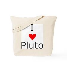 i heart Pluto Tote Bag