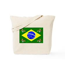 Brazil Football Flag Tote Bag