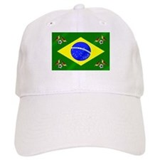 Brazil Football Flag Baseball Cap