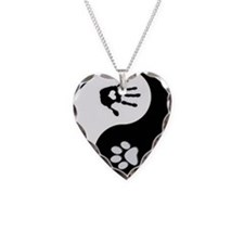 Dog Paw Print & Handprint Yin Yang Necklace