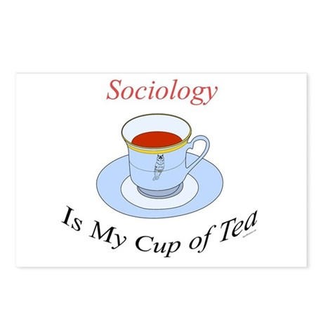 Sociology is my cup of tea Postcards (Package of 8