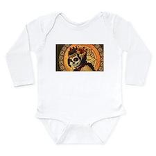 dia de los muertos Long Sleeve Infant Bodysuit
