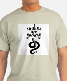 Snakes are Yummy Ash Grey T-Shirt