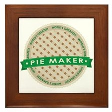 Apple Pie Maker Framed Tile