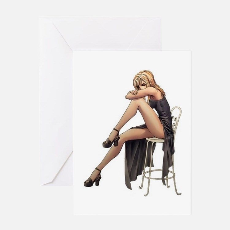 Hot Sexy Woman. Greeting Card