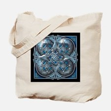 Silver & Blue Celtic Tapestry Tote Bag