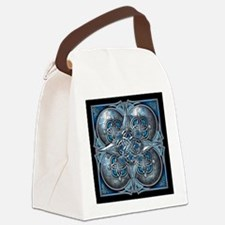 Silver & Blue Celtic Tapestry Canvas Lunch Bag