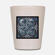 Silver & Blue Celtic Tapestry Shot Glass