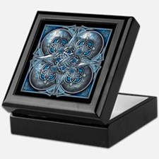 Silver & Blue Celtic Tapestry Keepsake Box