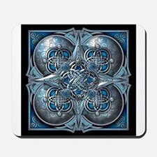 Silver & Blue Celtic Tapestry Mousepad