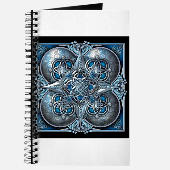 Silver & Blue Celtic Tapestry Journal