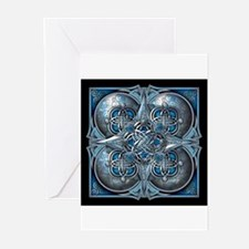 Silver & Blue Celtic Tapestry Greeting Cards (Pk o