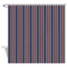 Red Blue Stripes Shower Curtain