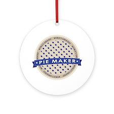 Blueberry Pie Maker Ornament (Round)
