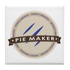 Blueberry Pie Maker Tile Coaster