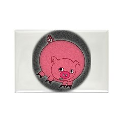 PIG BUBBLE Rectangle Magnet (10 pack)