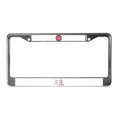 PIG BUBBLE License Plate Frame