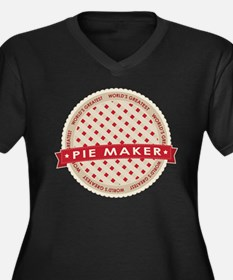 Cherry Pie Maker Women's Plus Size V-Neck Dark T-S