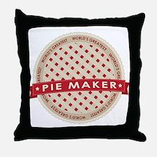 Cherry Pie Maker Throw Pillow