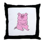 HUGE PINK PIG Throw Pillow