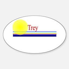 Trey Oval Decal