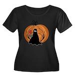 Halloween Women's Plus Size Scoop Neck Dark T-Shir