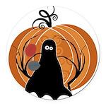 Halloween Round Car Magnet