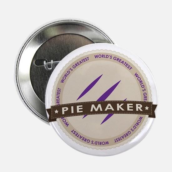 """Plum Pie Maker 2.25"""" Button"""
