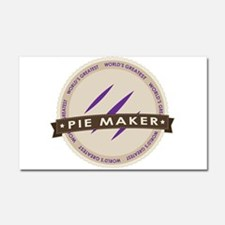 Plum Pie Maker Car Magnet 20 x 12