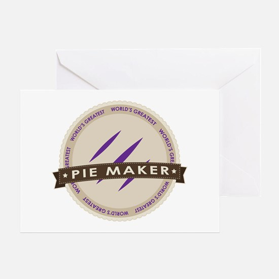 Plum Pie Maker Greeting Card