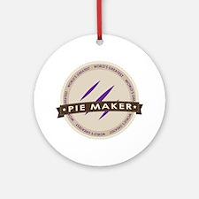 Plum Pie Maker Ornament (Round)